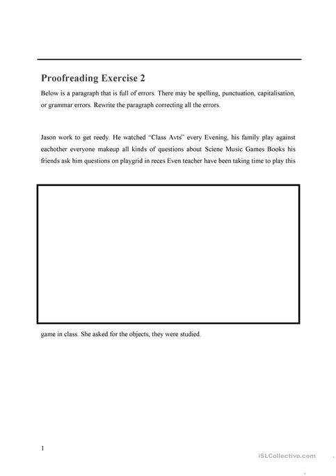 Proofreading Exercise 2 worksheet Free ESL printable worksheets made by teachers