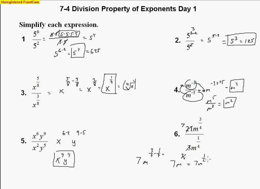 Properties Exponents Worksheet Answers Snap – Deargraham