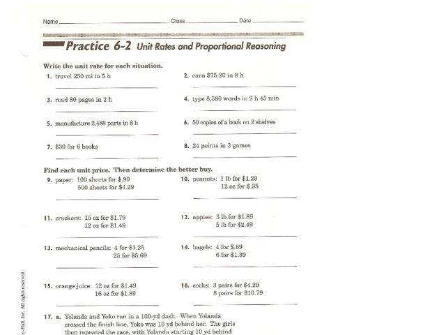 Best Solutions of Ratios And Proportional Relationships Worksheets Also Sample