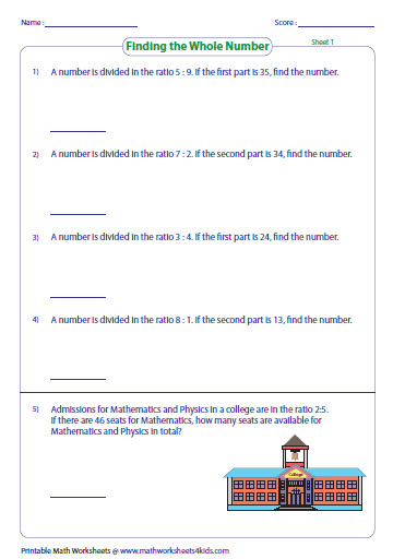 These worksheets also have word problems for practice Part to part ratio with pictures