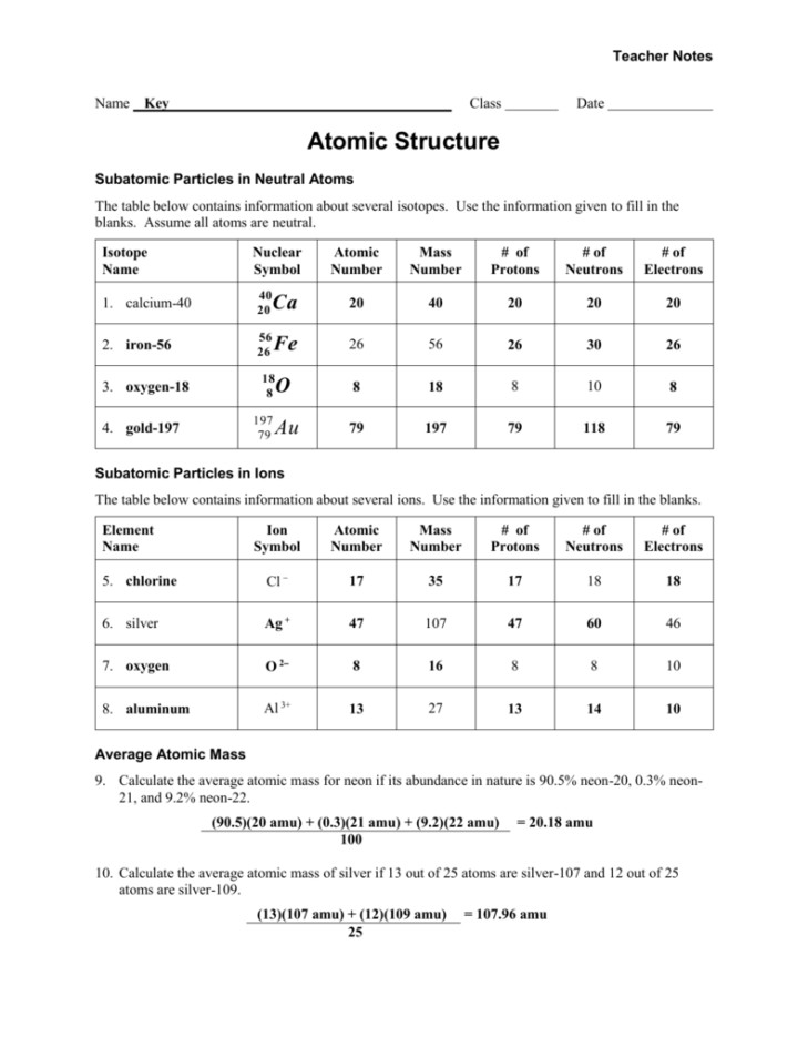 Medium Size of Worksheet isotopes Chemistry Protons Neutrons And Electrons Practice Worksheet Answer Key Subatomic