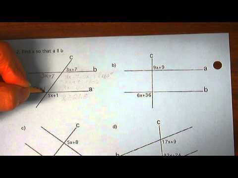 Proving Lines Parallel Worksheet 2 a