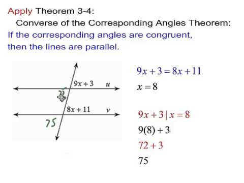 Geometry Ch 3 3 Proving Lines Parallel