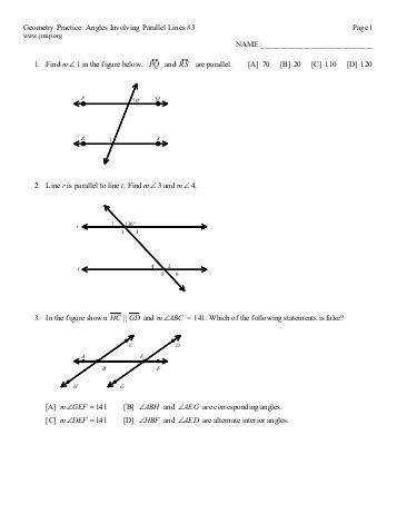 Interior Angles Source · Proving Lines Parallel Worksheet Answers Cxpz info
