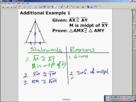 4 2 Triangle Congruence by SSS and SAS How to Prove Triangles Congurent