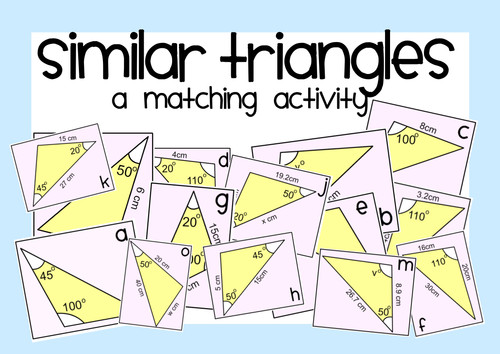Similar and Congruent Triangles Snap