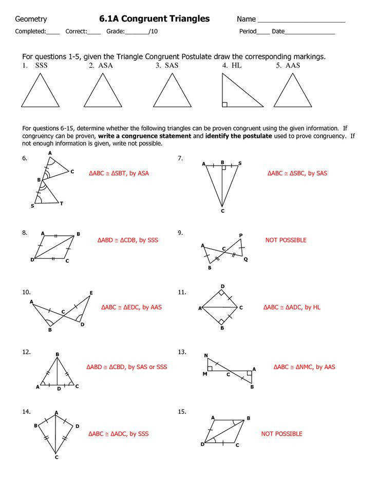 triangle congruence worksheet Google Search