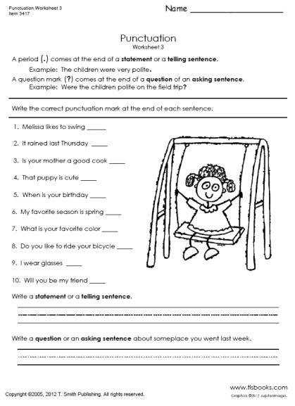 Punctuation Worksheets 3 3b