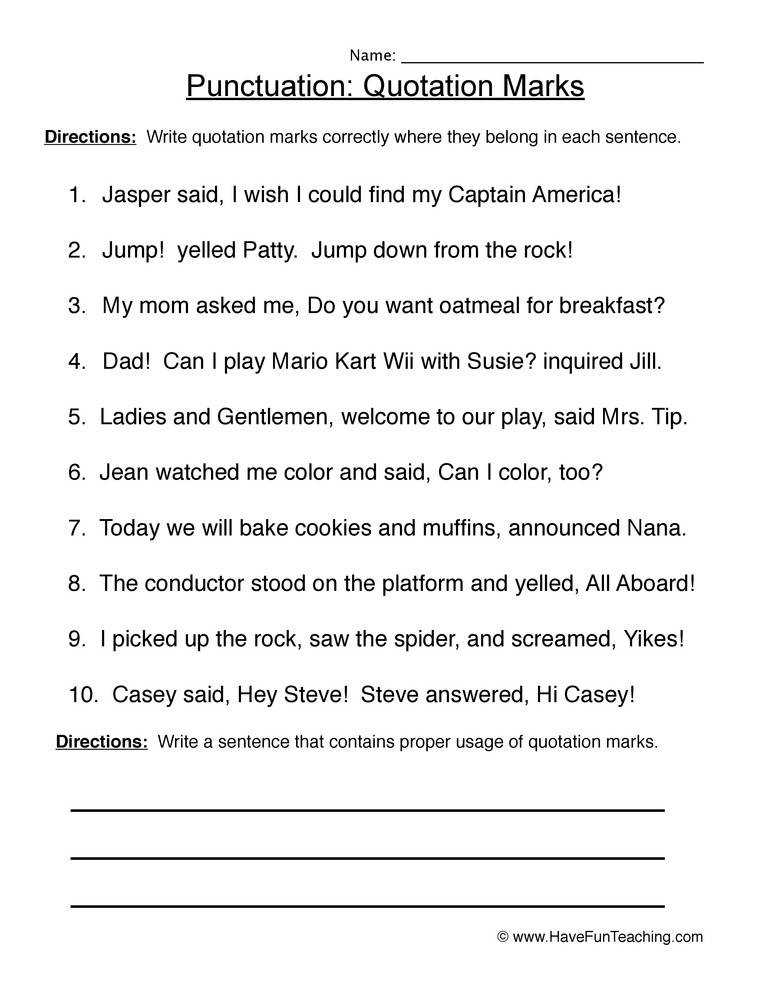 Punctuation Worksheets Homeschooldressage. End Punctuation Worksheet 1. Worksheet. End Punctuation Worksheet At Clickcart.co