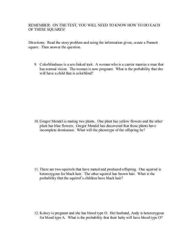 Type Punnett Square Worksheet Delibertad