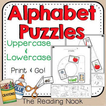 Alphabet Puzzle Worksheets Bundle