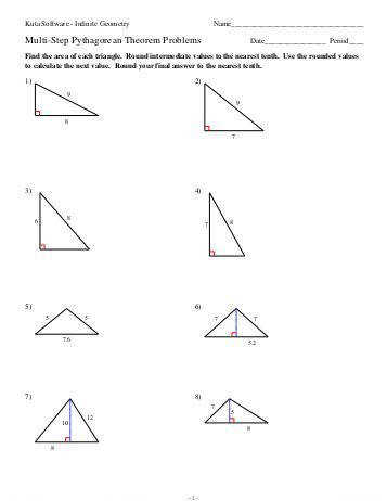 kuta software pythagorean theorem story problems worksheet with answers 8 the pythagorean theorem and its converse