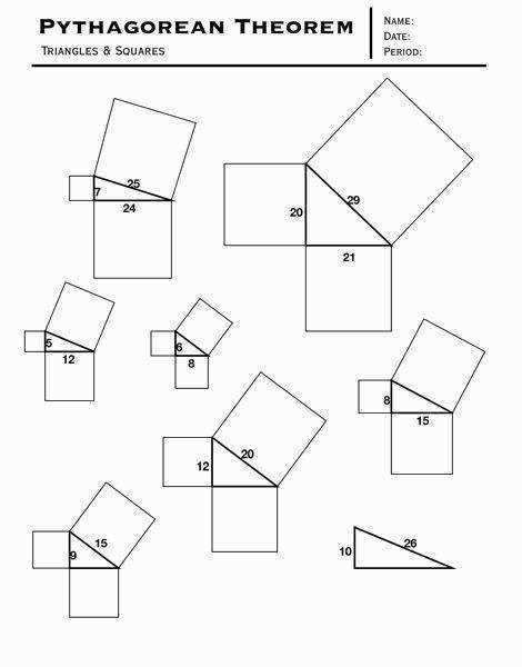Image result for favorite pythagorean theorem activity
