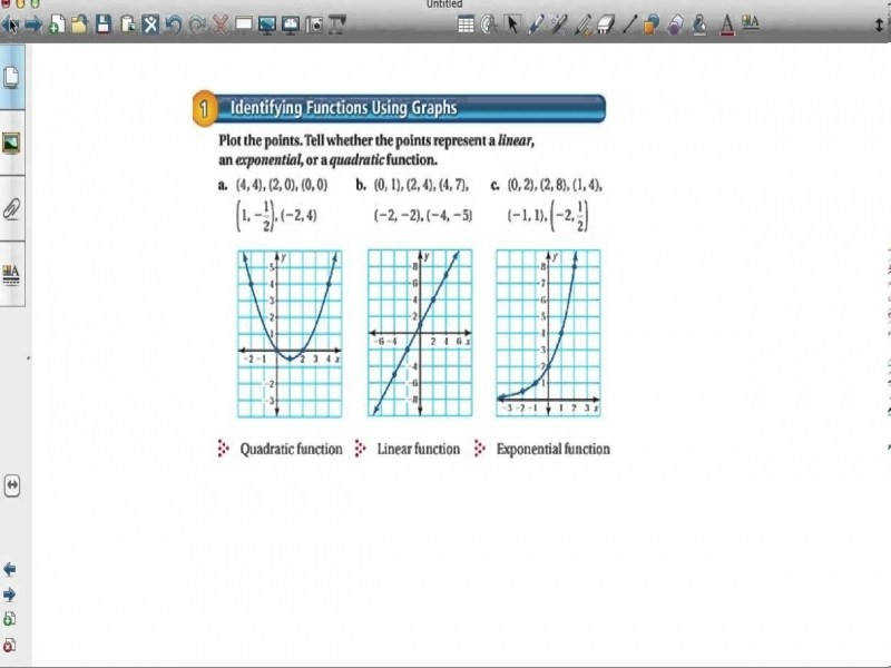 paring Linear Exponential And Quadratic Functions Youtube