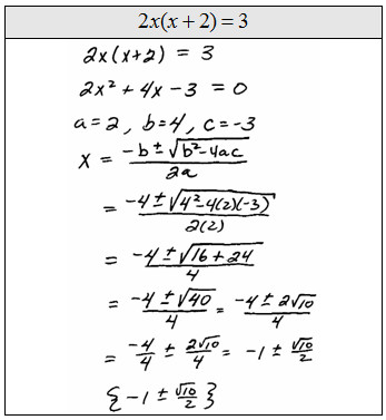 The word problems in this chapter should seem familiar The set ups are similar but usually lead to quadratic equations You could use the quadratic formula