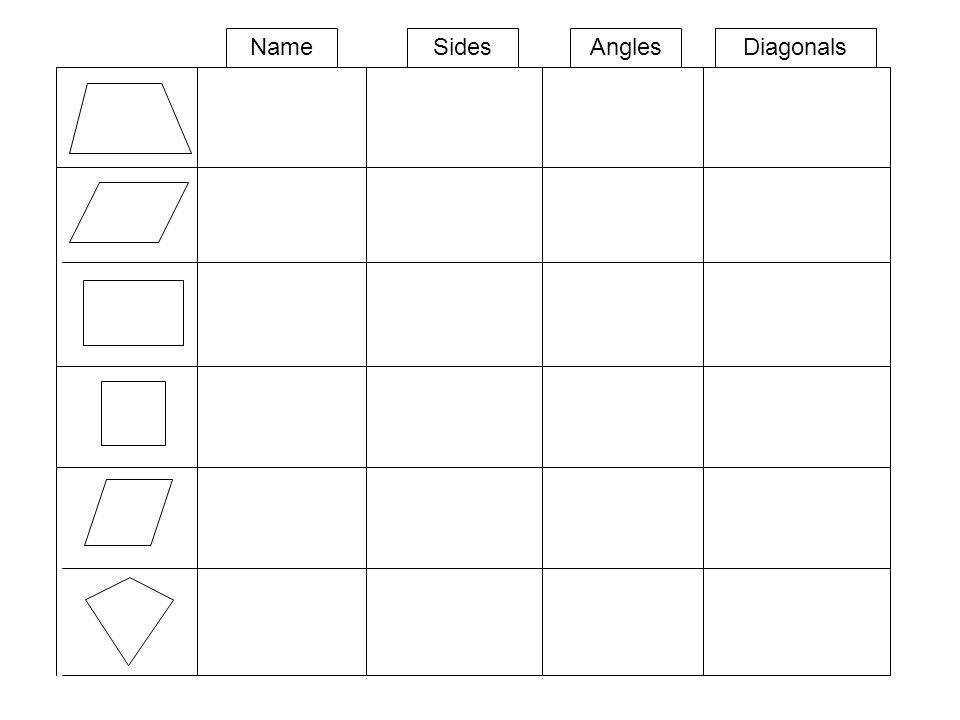 12 Name Sides Angles Diagonals Worksheet 2