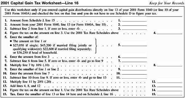 ScheduleJ 2001CapitalGainWorksheet Line16