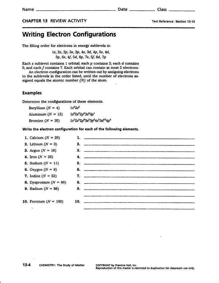 Electron Configuration Worksheet Answers Pogil Worksheets for