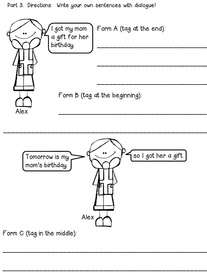 Use this quotation marks anchor chart and