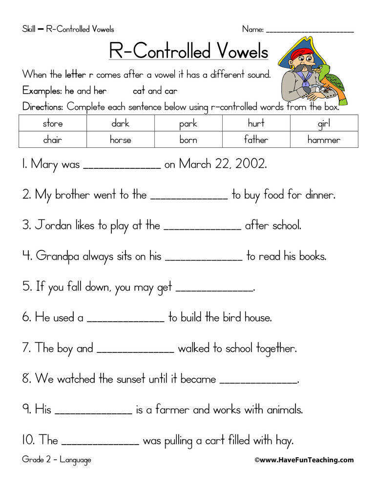 Phonics r Controlled Vowels ear eer Review 1st 2nd Grade
