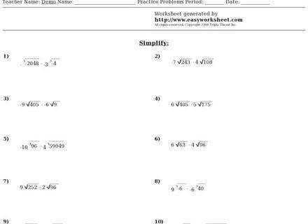 Simplifying radicals with variables worksheet concept Simplifying Radicals With Variables Worksheet Radical Expressions Answers D1f13c fa81 Capture