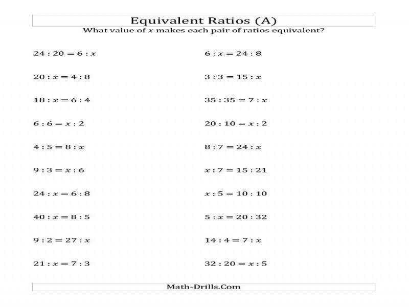 Ratio And Proportions Worksheet Worksheets