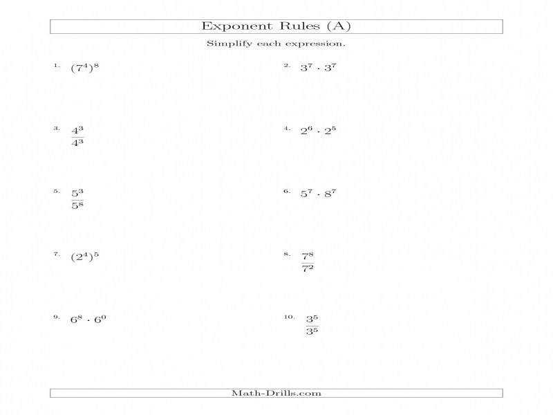 Quiz Worksheet Simplifying Expressions With Rational Exponents