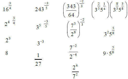 Fractional Exponent Worksheet