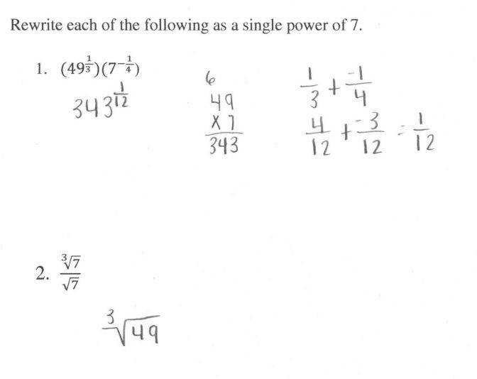 Rational Exponents 4 Students Are Asked To Rewrite Expressions Math Worksheets Algebra Mfas Rationalexponents4 I Math