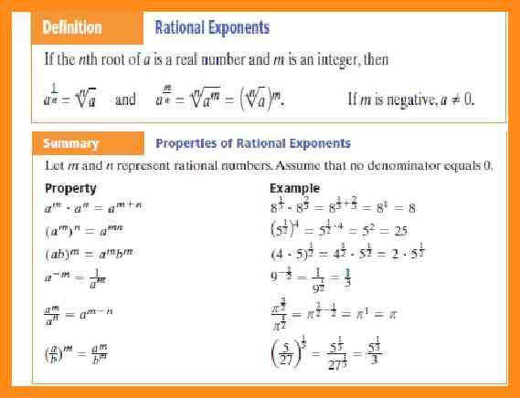 4 radical and rational exponents