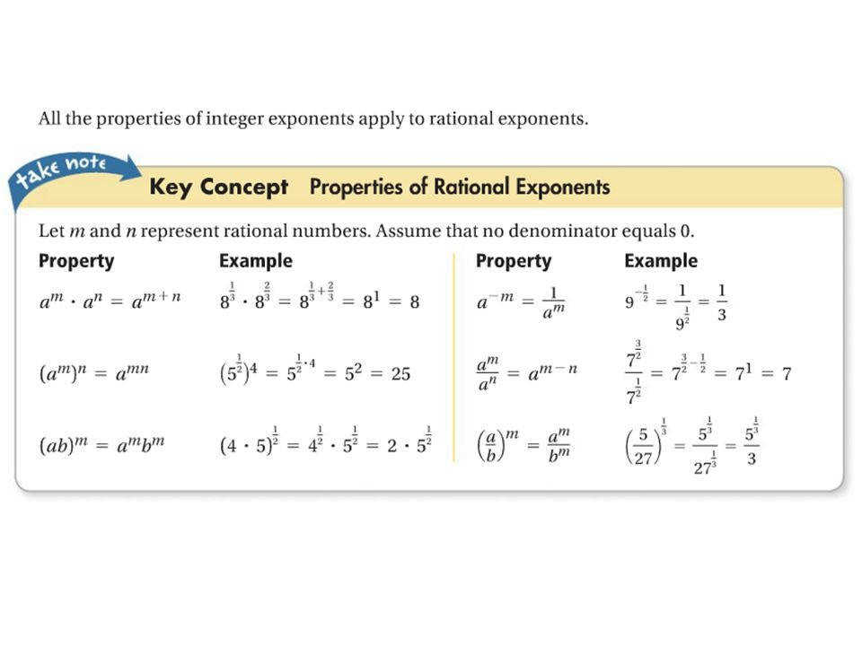 Radical Expressions And Rational Exponents Slide 3 Visualize Classy Using Write 4