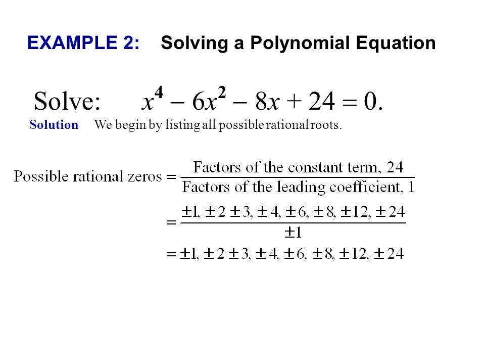 Rational Root Theorem Examples Slide 5 Elegant Presentation Quot The Zero Rational Root Theorem Examples Portrait