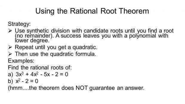 Rational Root Theorem Definition Using The Picture Enchanting
