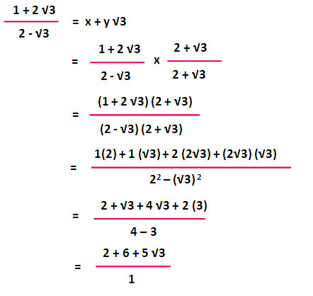 In this question we have 1 2√3 in the numerator and 2