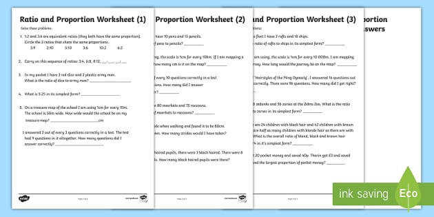 t2 m 303 ratio and proportion 3 differentiated activity sheet pack ver 1