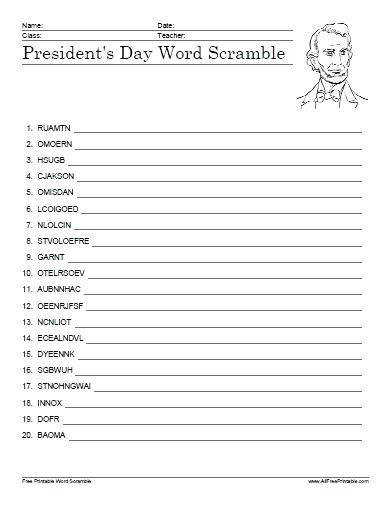 presidents day printables free printable presidents day word scramble presidents day reading prehension worksheets 3rd grade