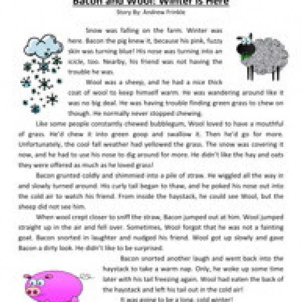 English teaching worksheets Winter