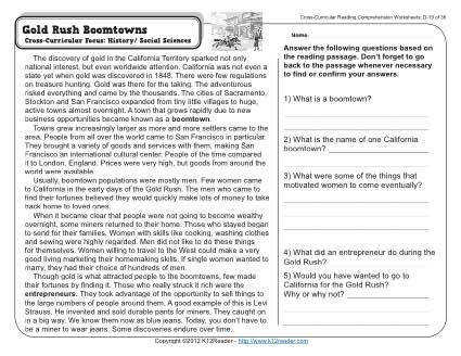 About this Worksheet Week 19 Reading prehension