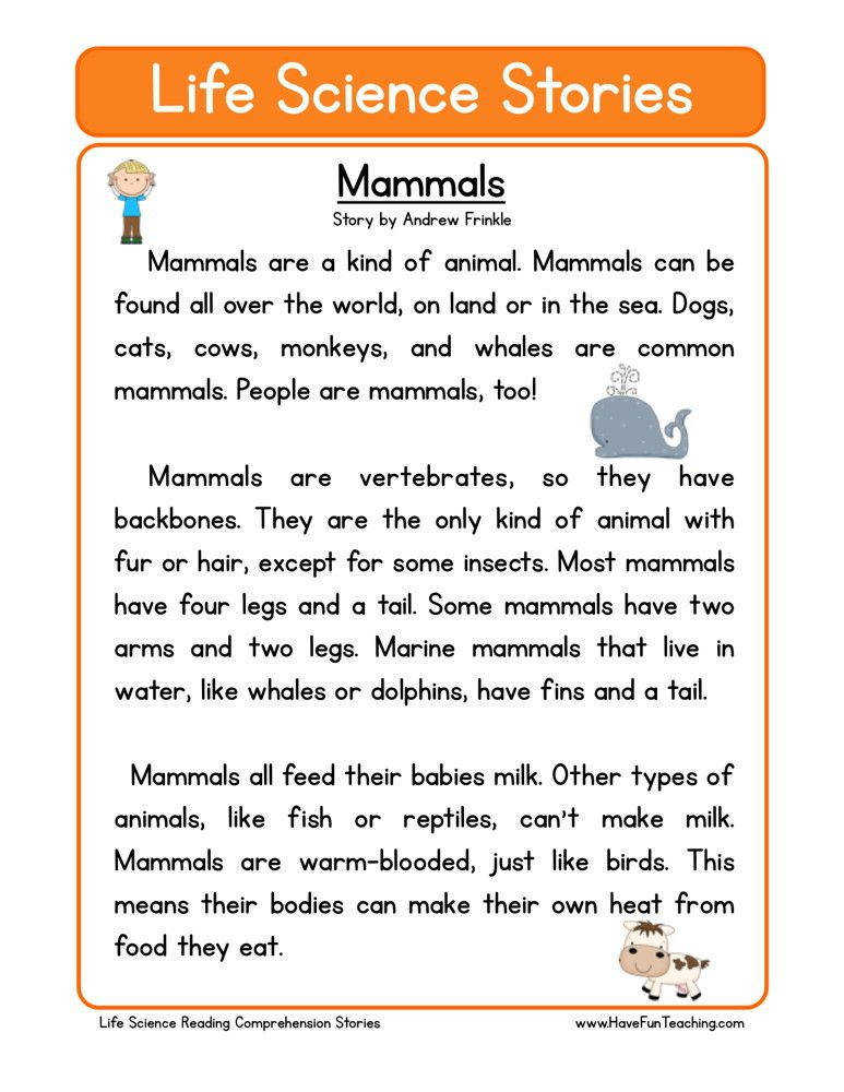 This Reading prehension Worksheet Mammals is for teaching reading prehension Use this reading prehension