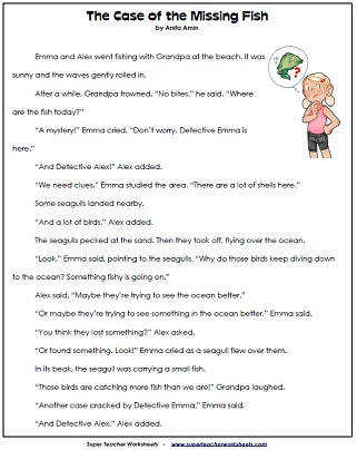Reading Worksheets Reading prehension Passages