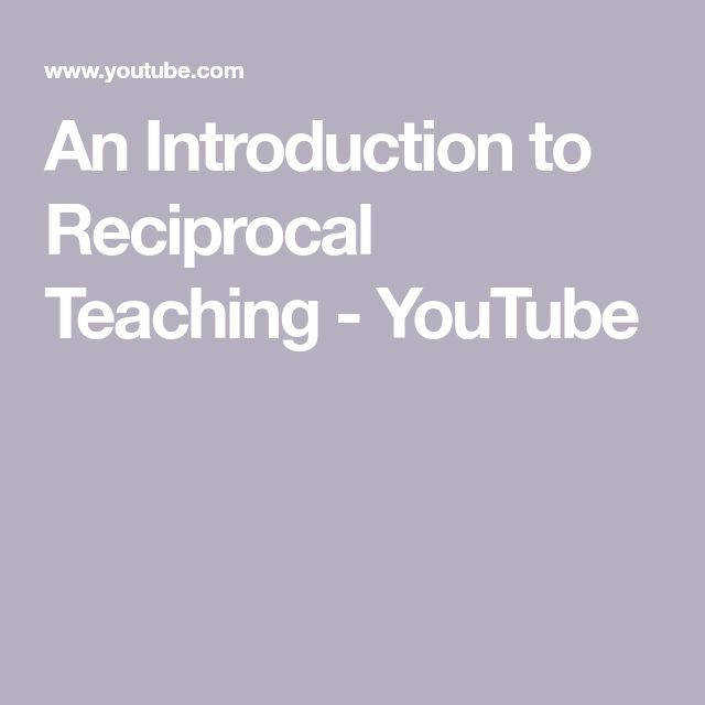 An Introduction to Reciprocal Teaching