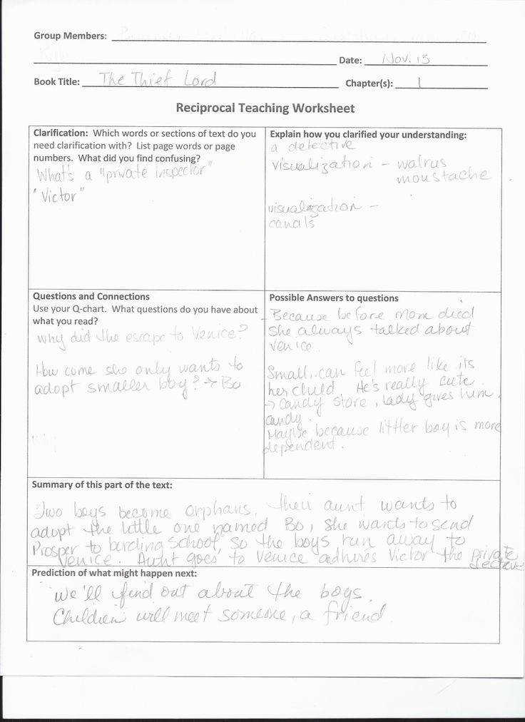 A blog about teaching a place to share teaching strategies learning activities classroom Reciprocal