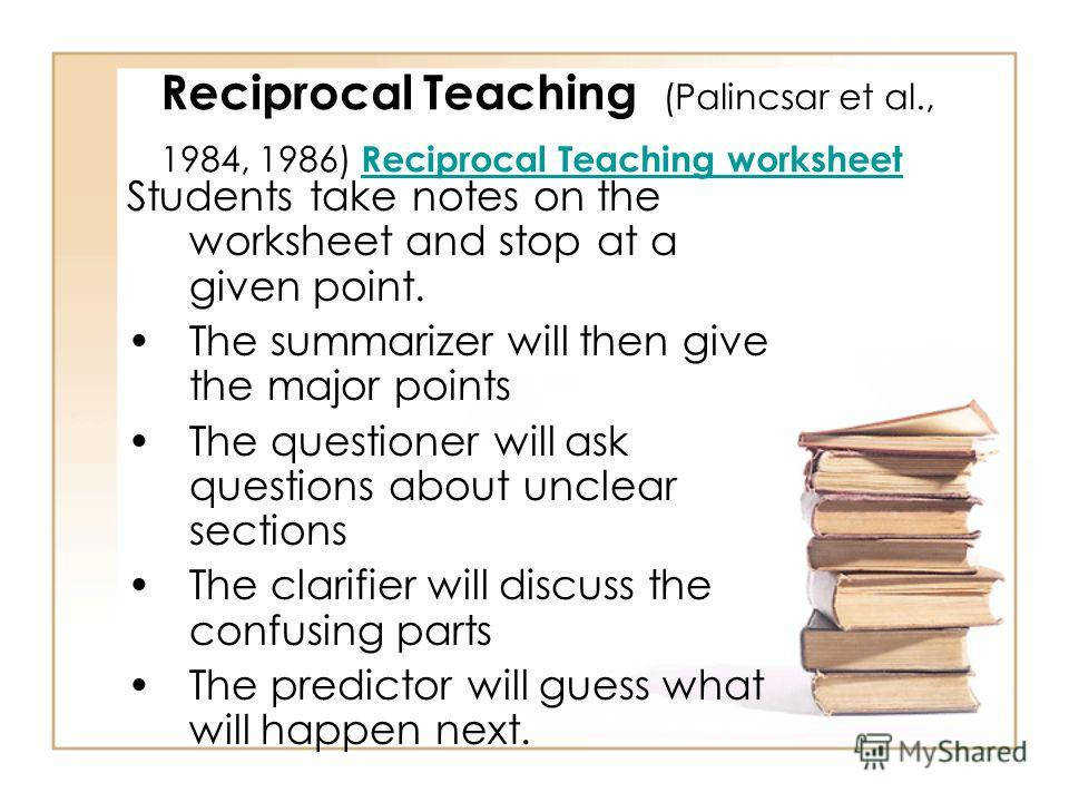 31 Reciprocal Teaching
