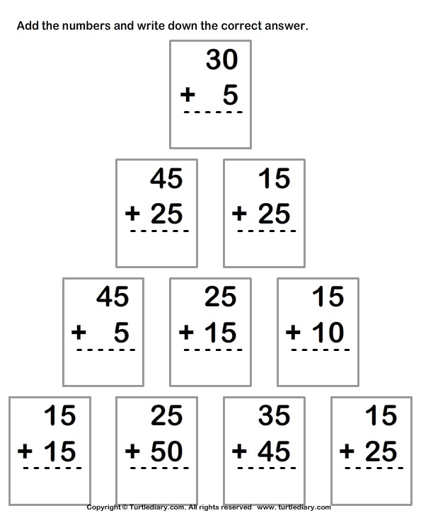 Adding Two Two digit Numbers