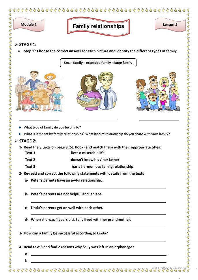 Worksheets Relationship Worksheets 12 free esl family relationships worksheets lesson1 relationships