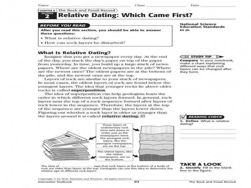 relative dating rock layers activity A relative age dating activity by christine mclelland topic: relative age dating of geologic cross sections grade level: 7-14  the rocks, they may also be used to correlate rock layers across large distances and, now that absolute time has been established, to determine the age of the rocks.