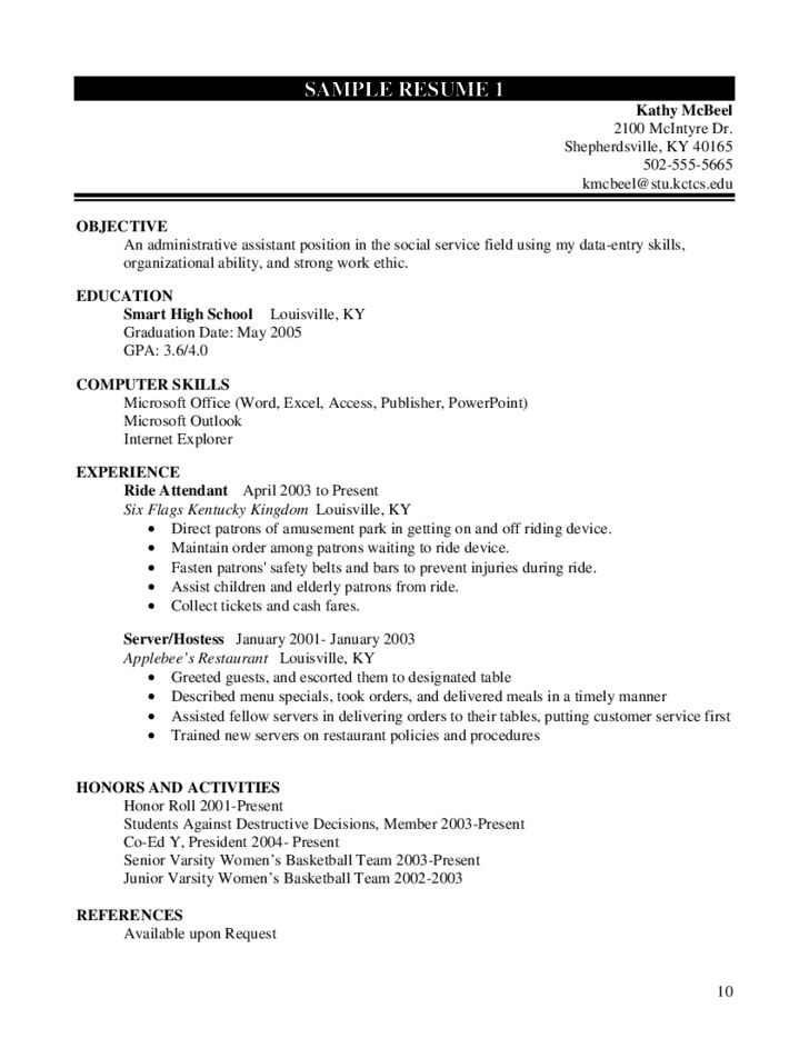 Interesting Resume Worksheet For High School Students 16 About Remodel Resume Download with Resume Worksheet For High School Students