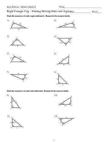 Right Triangle Trig Missing Sides and