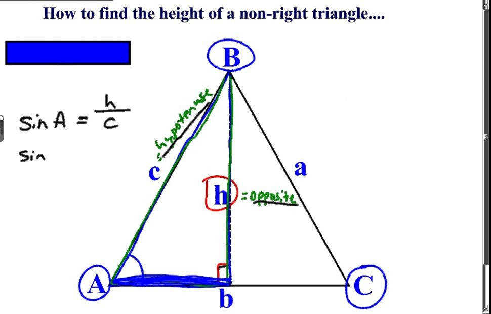 Excellent Khan Academy Talent Searchthe Height A Non Right Triangle Trig Worksheet size