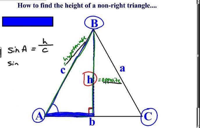Excellent Khan Academy Talent Searchthe Height A Non Right Triangle Trig Worksheet